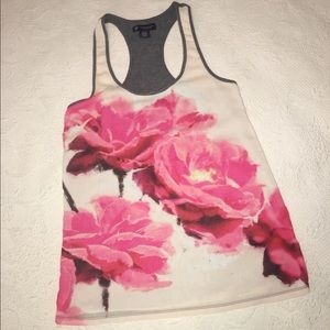 American Eagle rose floral tank top